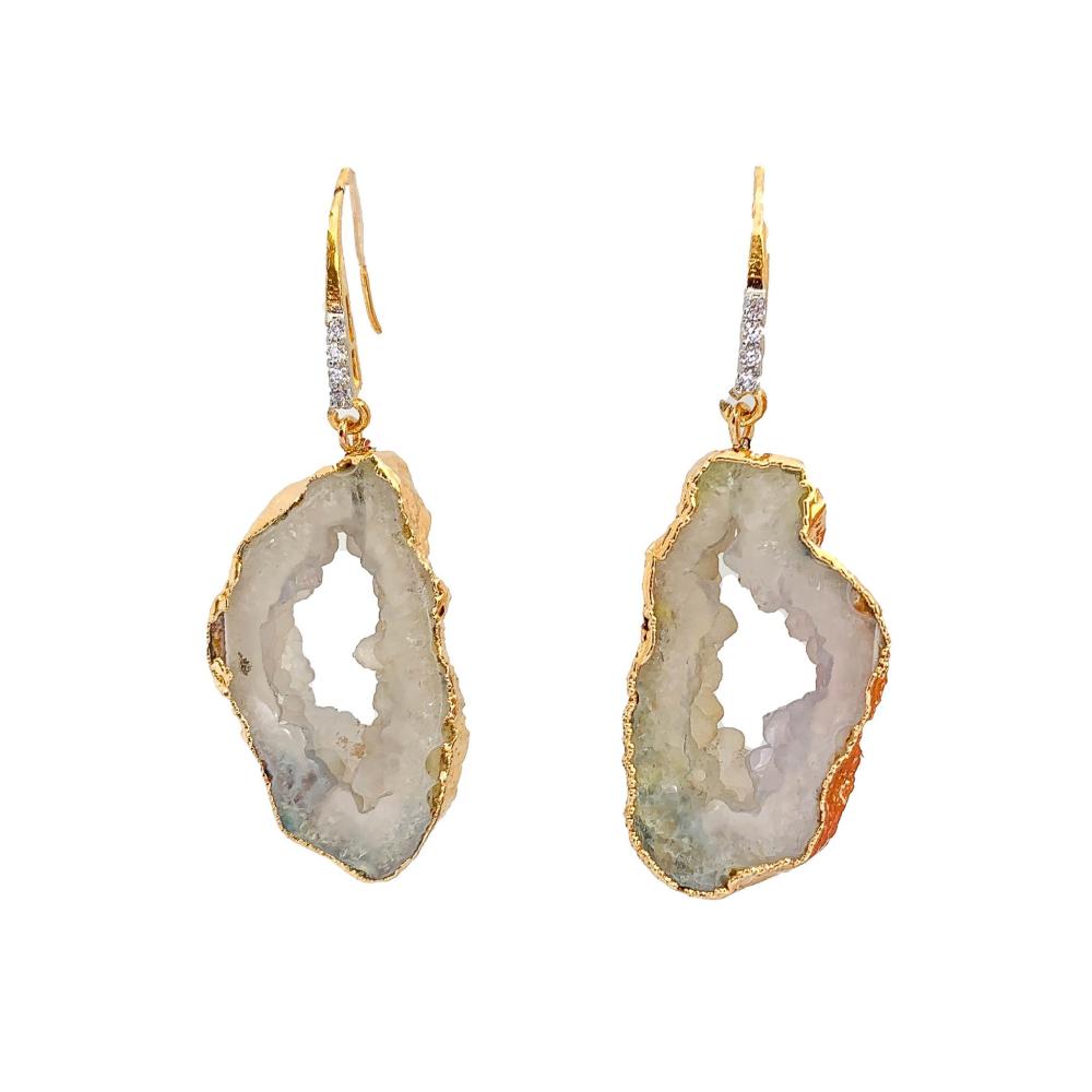 White wizard earrings