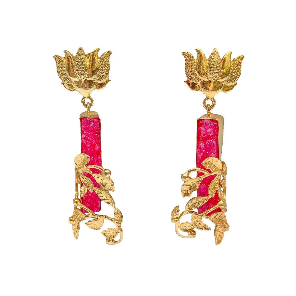 Sunset lotus earrings