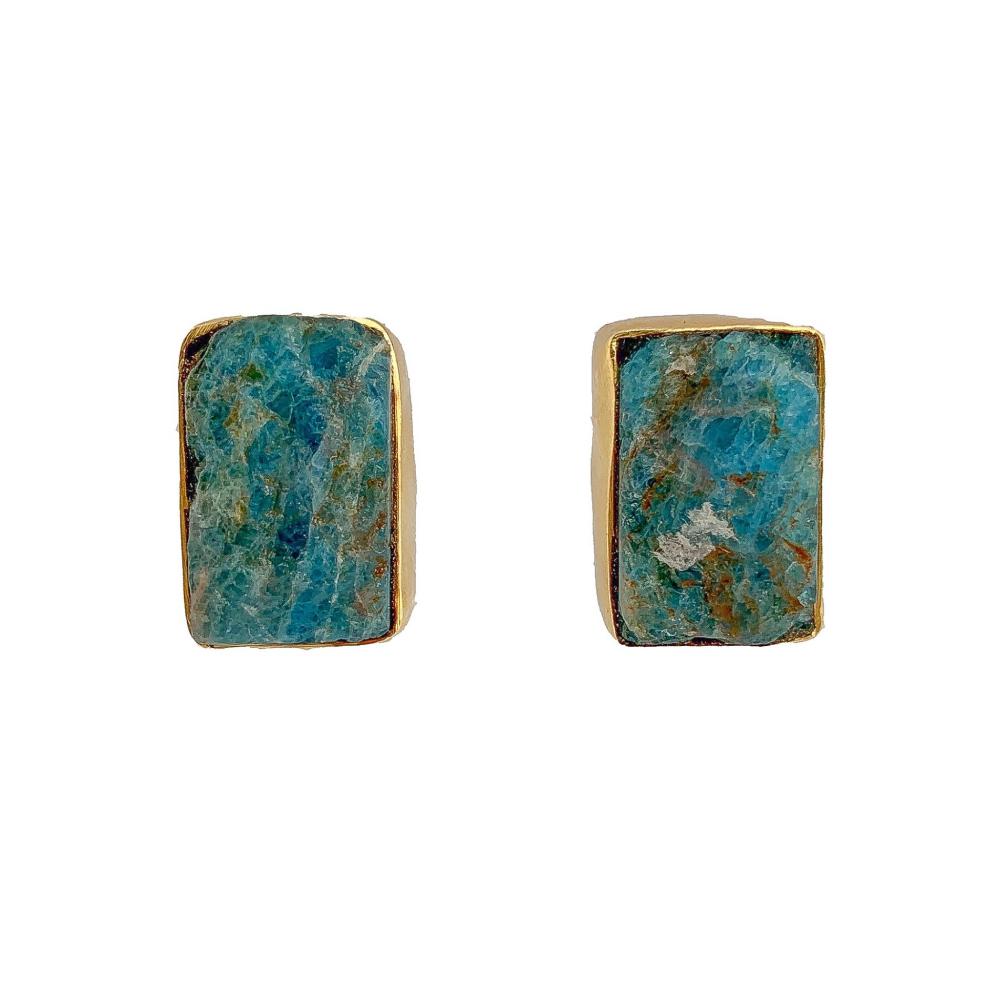 Blue marine stud earrings
