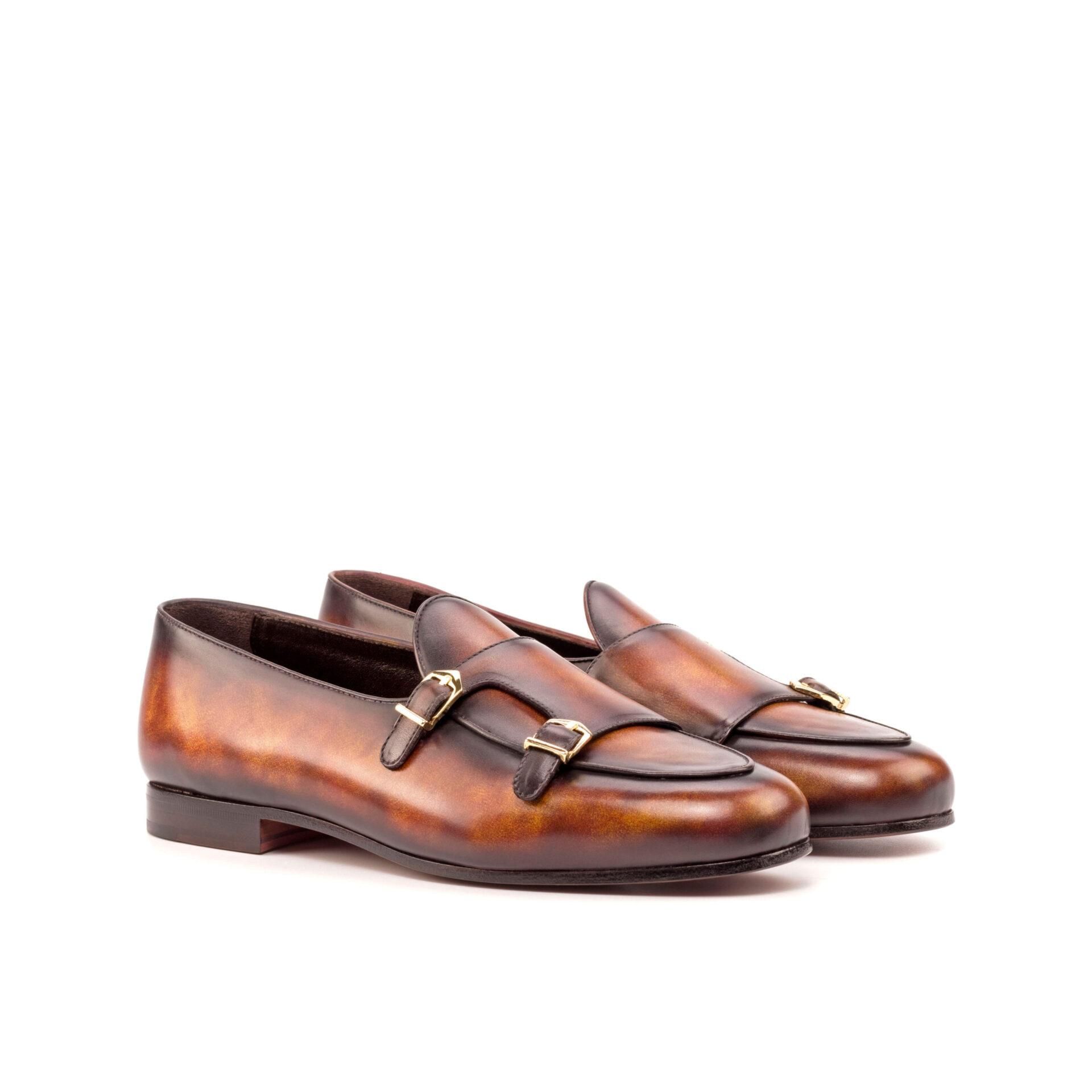 Handmade Patina Monk Slipper Shoe