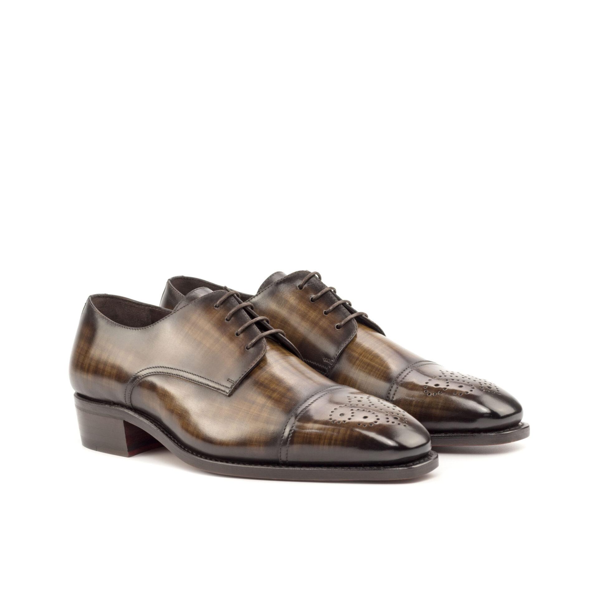 Handmade Patina Derby Shoe
