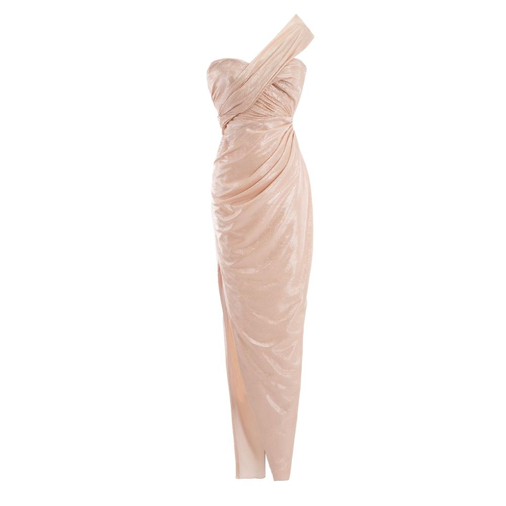 One shoulder shimmery dress