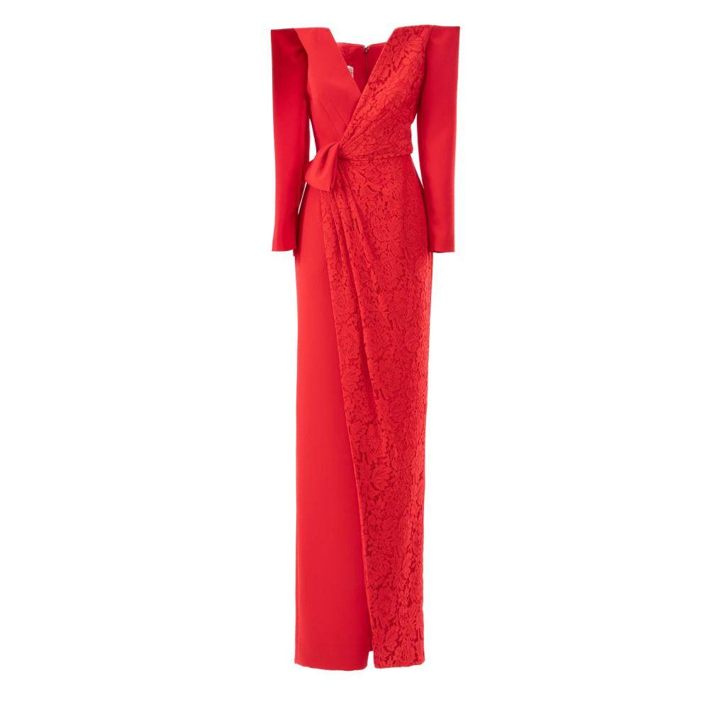 Off shoulders long dress