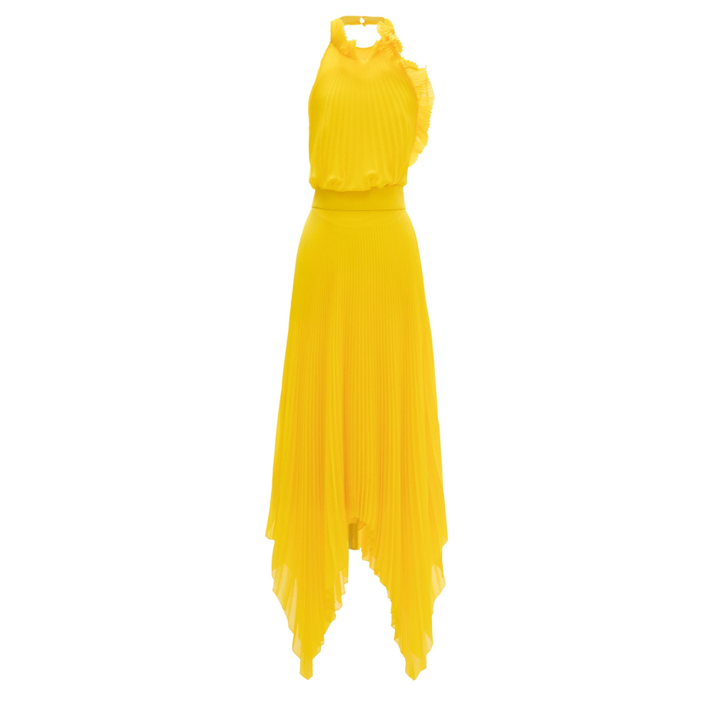 Ruffled details long dress