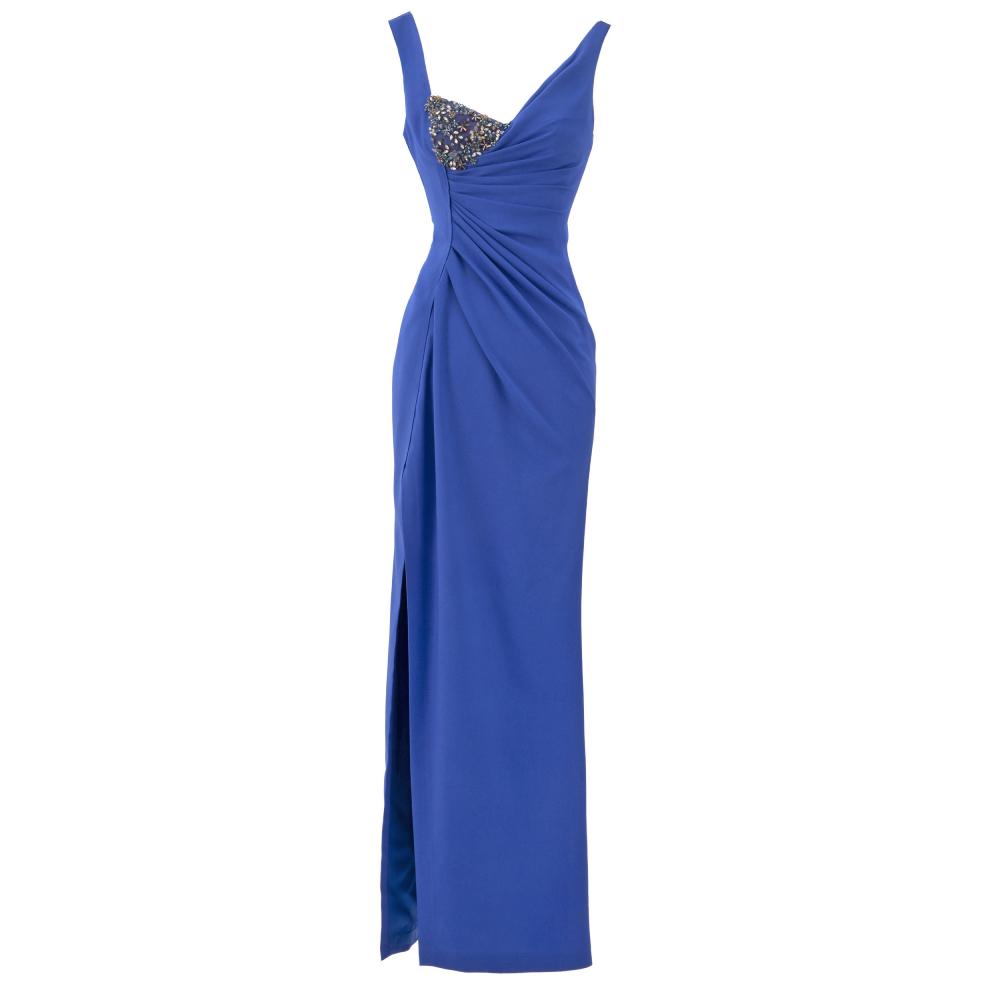 Draped slim cut dress