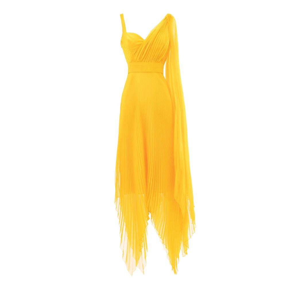High-low asymmetrical dress