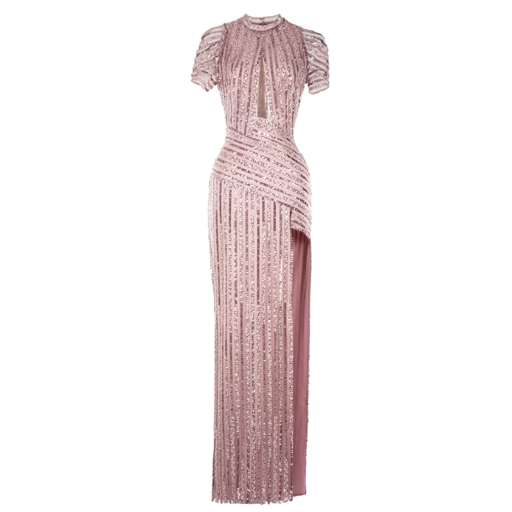 Straight cut sequined dress