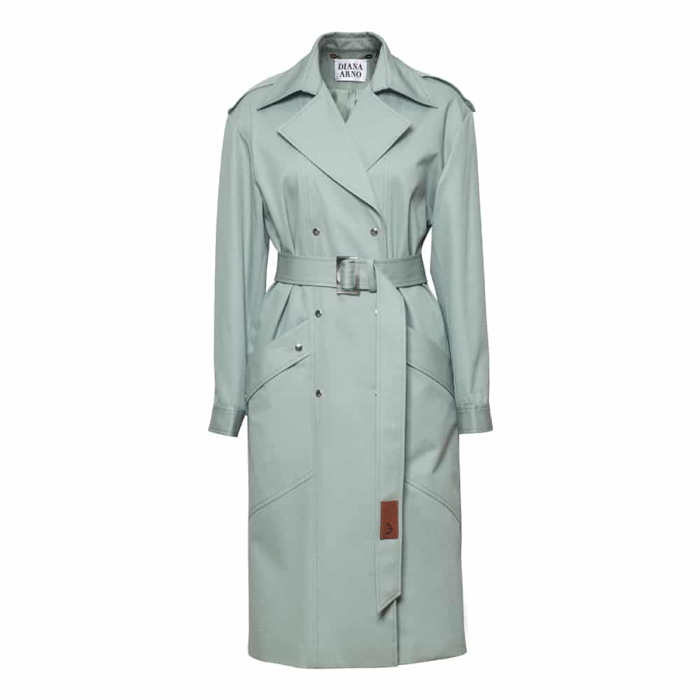 Judith-cotton-trench-in-mint-coat
